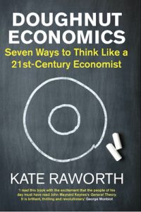 Book cover of Kate Raworth's Doughnut Economics.